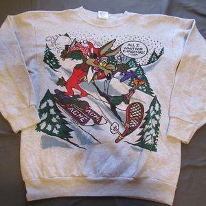 Vintage Looney Tunes Christmas Sweater Roadrunner